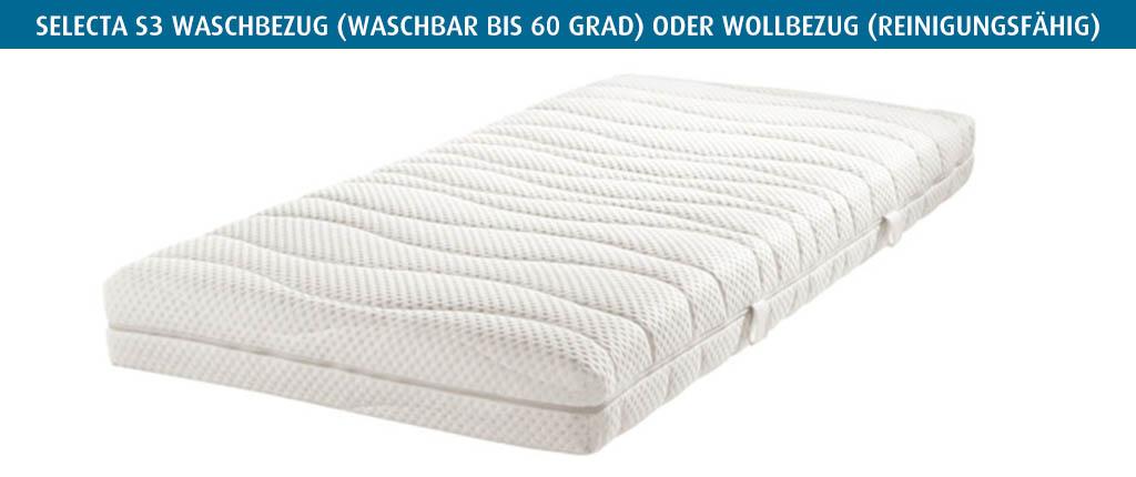 Selecta-S3-Waschbezug-waschbar-oder-Wollbezug-reinigungsfaehrig