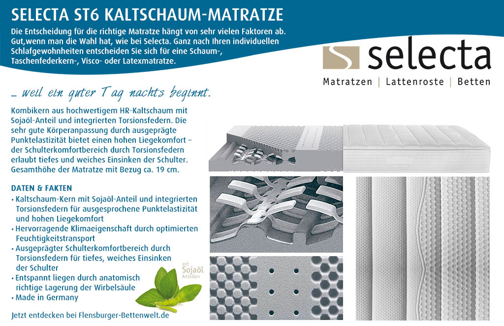 Selecta-ST6-Kaltschaum-Matratze-kaufen-Flensburger-Bettenwelt
