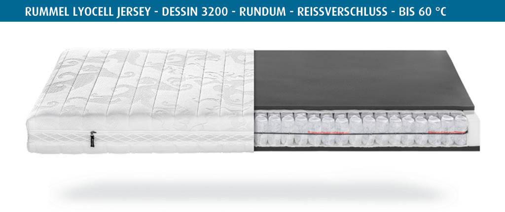 Rummel-MY-300-T-Matratzenbezug-Lyocell-Jersey-Dessin-3200-rundum-Reissverschluss-waschbar-bis-60-Grad