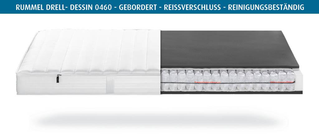 Rummel-MY-300-T-Matratzenbezug-Drell-Dessin-0460-gebordert-reinigungsbestaendig
