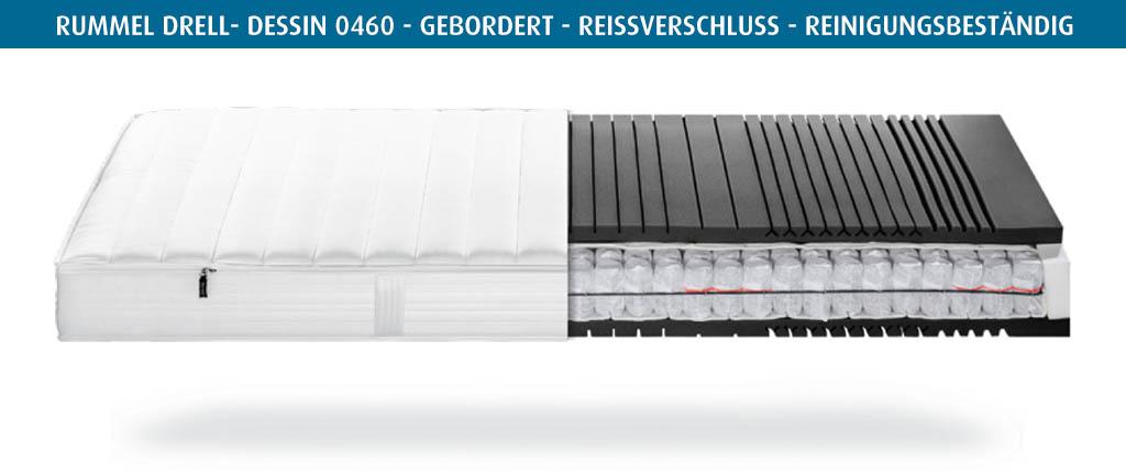 Rummel-MY-500-T-Matratzenbezug-Drell-Dessin-0460-gebordert-reinigungsbestaendig