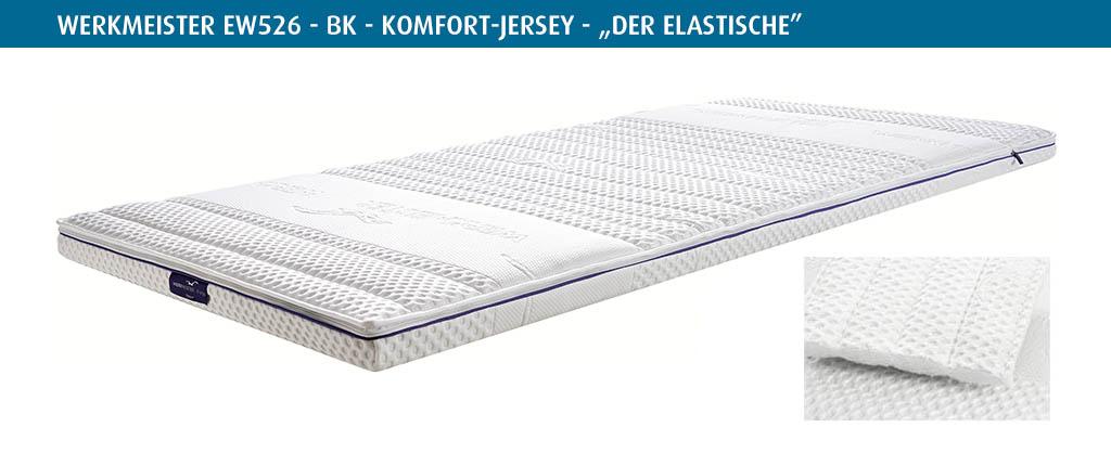 Werkmeister-Matratzen-Topper-elastischer-Komfort-Jersey-Bezug-EW526-BK