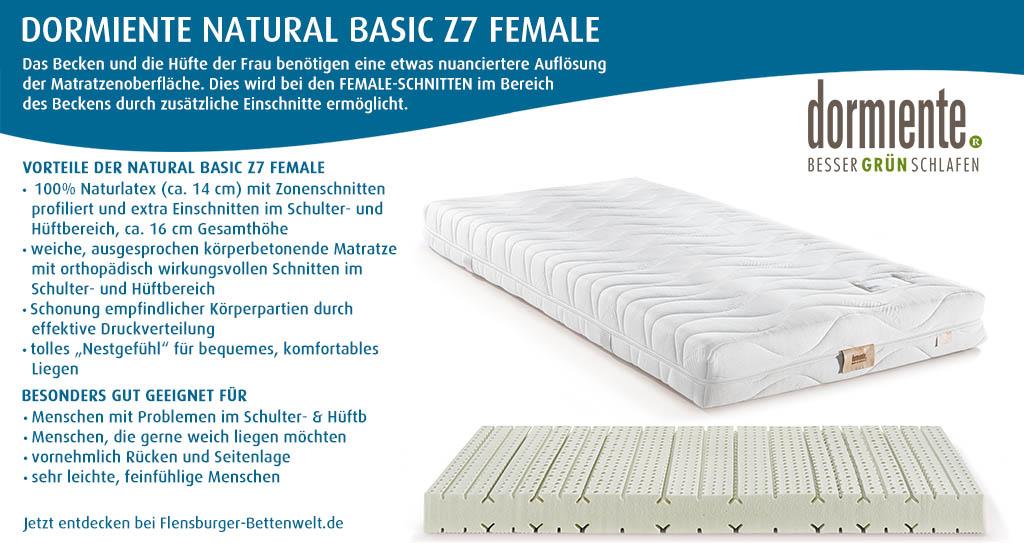 dormiente-Natural-Basic-Z7-FeMale-Latexmatratze-Flensburger-Bettenwelt