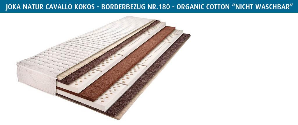 Joka-Rosshaarmatratze-Cavallo-Kokos-Borderbezug-Nr-180-nicht-waschbar-selbstreinigend