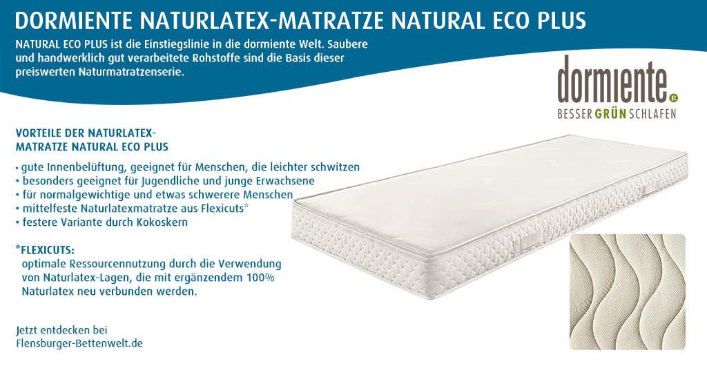 dormiente-Naturlatex-Matratze-NATURAL-ECO-PLUS-bei-Flensburger-Bettenwelt