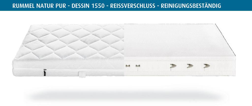 Rummel-MY-600-L-Matratzenbezug-Natur-Pur-Dessin-1550-Reissverschluss-reinigungsbestaendig