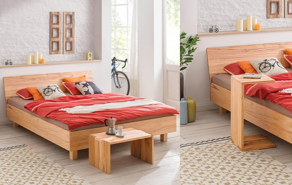 dormiente-Massivholzbett-Kanda-mit-optionalen-Beistelltischen