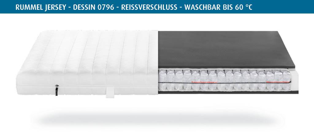 Rummel-MY-300-T-Matratzenbezug-Jersey-Dessin-0796-Reissverschluss-waschbar-bis-60-Grad