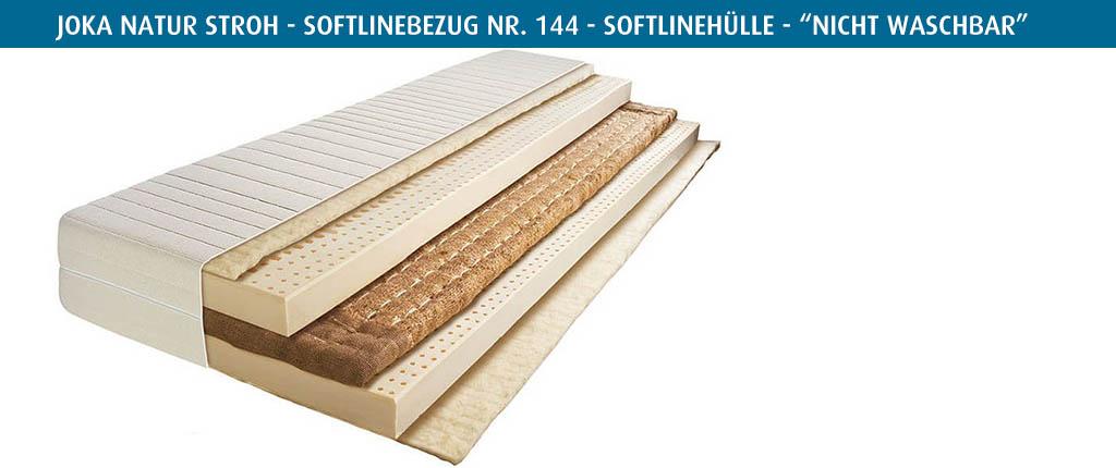 Joka-Natur-Stroh-Matratze-Softlinebezug-Nr-144-vierseitiger-Reissverschluss-nicht-waschbar