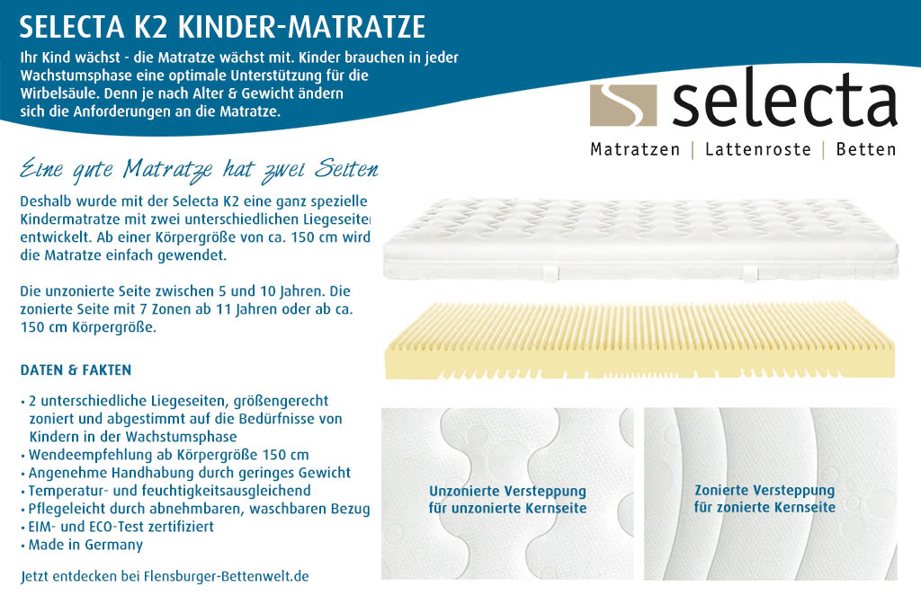 Selecta-K2-Kindermatratze-kaufen-Flensburger-Bettenwelt