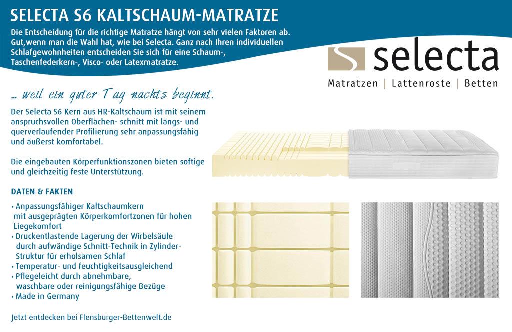 Selecta-S6-Kaltschaum-Matratze-kaufen-Flensburger-Bettenwelt