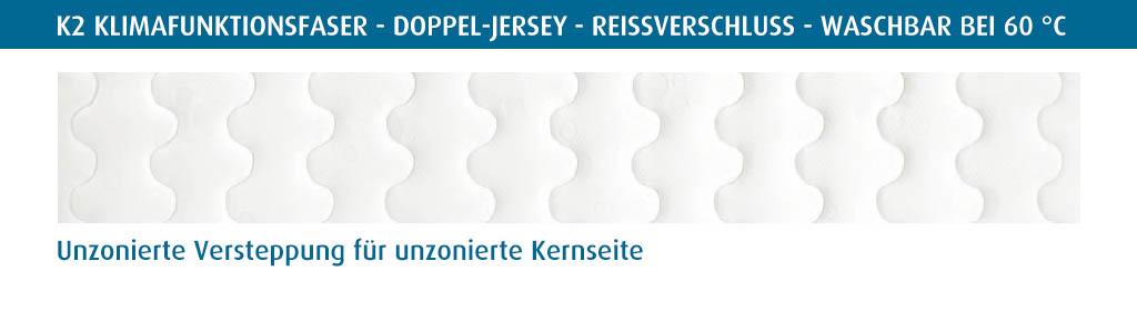 Selecta-K2-Kindermatratze-Bezug-unzonierte-Versteppung-Klimafunktionsfaser-Reissverschluss-waschbar-bei-60-Grad
