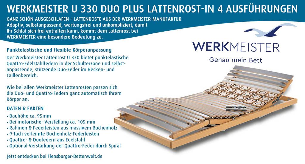 Werkmeister-U-330-Duo-Plus-Lattenrost-kaufen-Flensburger-Bettenwelt