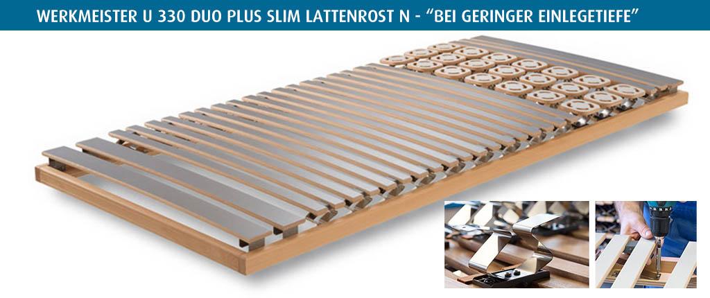Werkmeister-U-330-Duo-Plus-Slim-Lattenrost-N-bei-geringer-Einlegetiefe