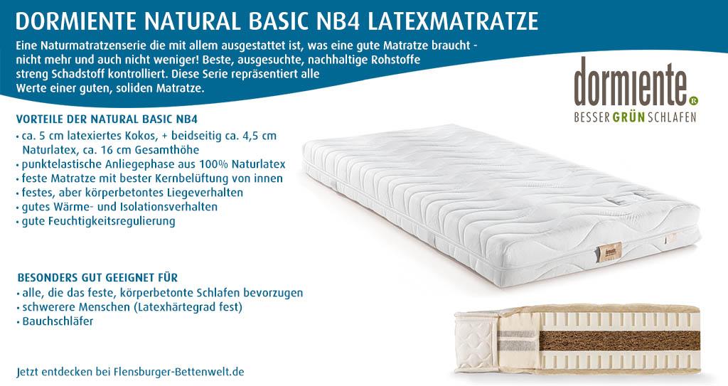 dormiente-Natural-Basic-NB4-Latexmatratze-Flensburger-Bettenwelt