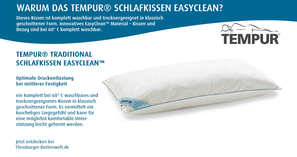Tempur-Traditional-Schlafkissen-EasyClean-Flensburger-Bettenwelt