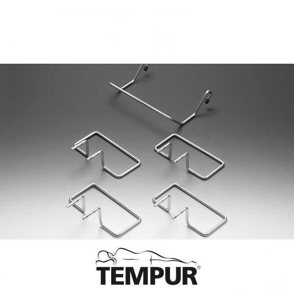 Tempur Matratzen Halter Satz B chrom 5 Stück