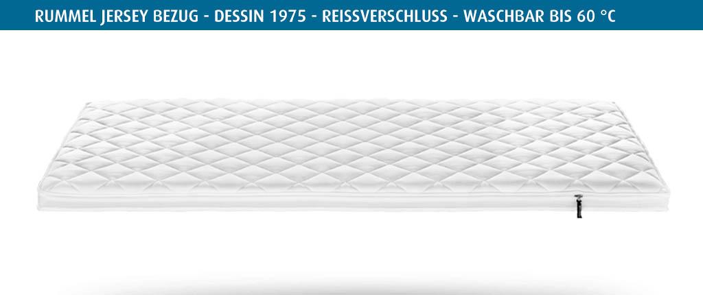 Rummel-MY-90-L-Topperbezug-Jersey-Dessin-1975-Reissverschluss-waschbar-bis-60-Grad