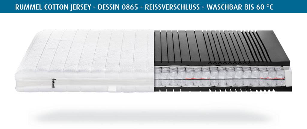 Rummel-MY-500-T-Matratzenbezug-Cotton-Jersey-Dessin-0865-Reissverschluss-waschbar-bis-60-Grad