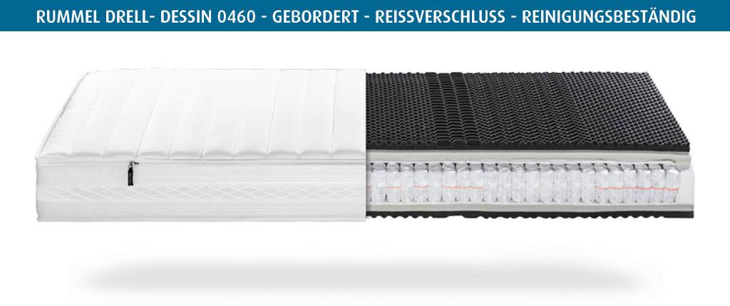 Rummel-MY-600-T-Matratzenbezug-Drell-Dessin-0460-gebordert-reinigungsbestaendig